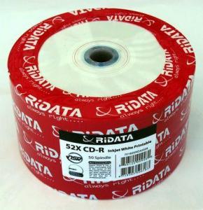 Ridata CD-R full printabil alb mat 50 bucăți1