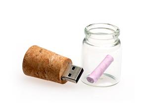 "Stick USB ""Message in a bottle""3"
