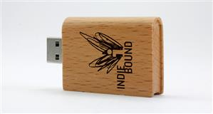 Stick USB personalizat, din LEMN, tip MANUSCRIS [2]