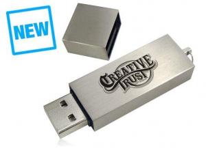 Stick USB personalizat, din METAL, cu design clasic0
