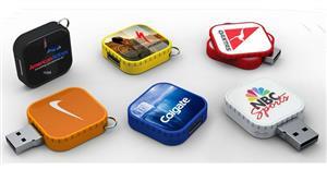 Stick USB swivel personalizat, formă pătrată2