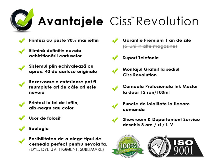 Avantaje CISS Revolution
