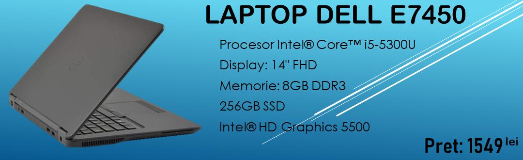 Laptop Dell E7450 i5-5300U / 8Gb DDR3 / 256 SSD
