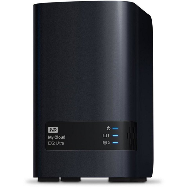 "Server Western Digital WDBVBZ0000NCH-EESN, My Cloud EX2 Ultra, 3.5"", 0TB, USB 3.0x2, Negru 0"