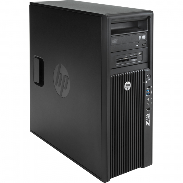 HP WORKSTATION Z420 Intel Xeon Quad Core E5-1603, 16GB ddr3 , 120 SSD NOU + 500Gb  NVIDIA Quadro K620 0