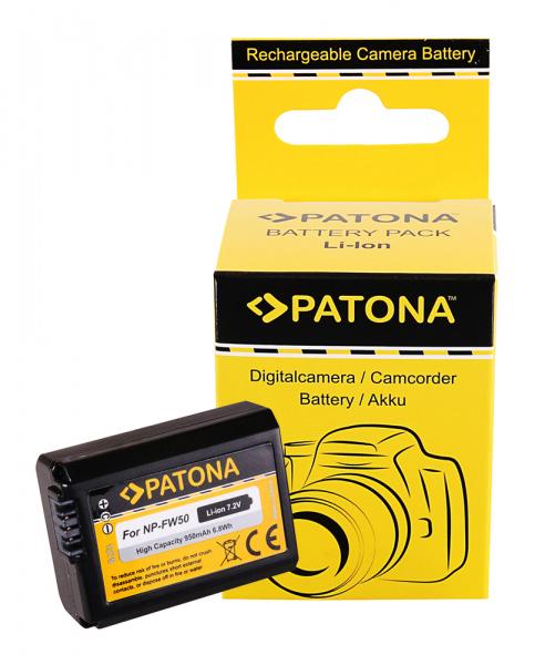 Acumulator Patona pentru Sony NP-FW50 Alpha 7 5000 5100 6000 NP-FW50 Cyber-shot RSCRX10 0