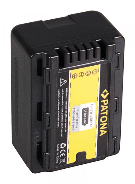 Acumulator Patona pentru Panasonic VW-VBK180 H H100 H101 H95 VW-VBK180 HC HCV700 HC-V700 2