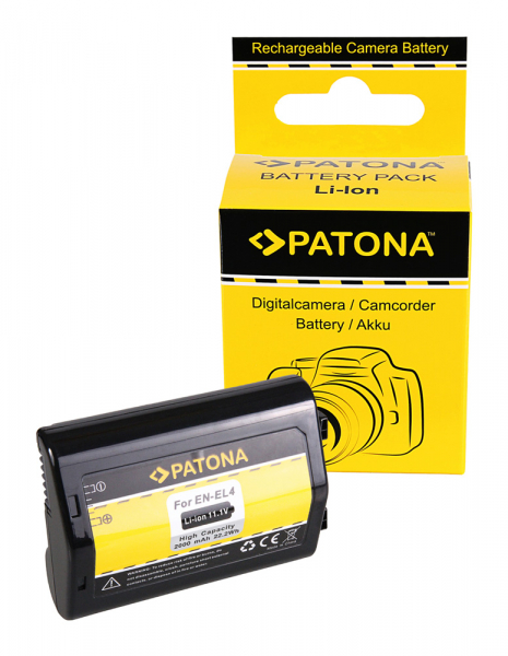 Acumulator Patona pentru Nikon EN-EL4 ENEL4a D D2H D2Hs D2X D2Xs D3 D3X EN-EL4 ENEL4a F 0