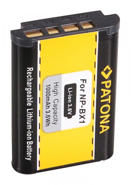 Acumulator Patona pentru Sony NP-BX1 BX BX1 NP-BX1 Cyber-shot AS100VR AS15 AS20 AS200 2