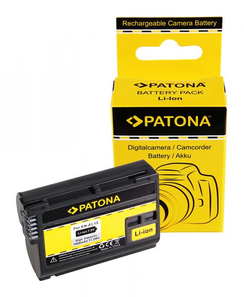 Acumulator Patona pentru Nikon ENEL15 1 V1 ENEL15 D600 D610 D7000 D800 D8000 D800E D810 0