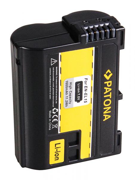 Acumulator Patona pentru Nikon ENEL15 1 V1 ENEL15 D600 D610 D7000 D800 D8000 D800E D810 2