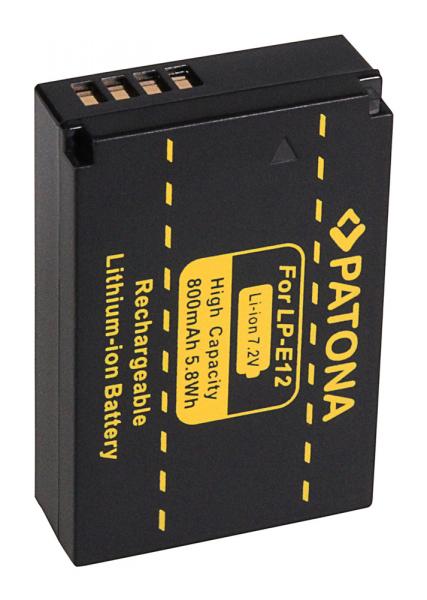 Acumulator Patona pentru Canon LP-E12 EOS 100D M 2