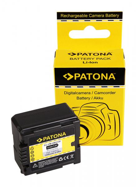 Acumulator Patona pentru Panasonic VW-VBG130 HDC HDCDX1 HDC-DX1 HDCDX1EGS HDC-DX1EG-S 0