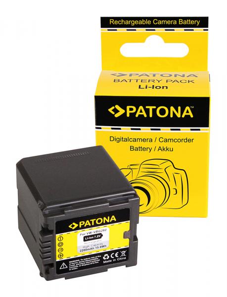 Acumulator Patona pentru Panasonic VW-VBG260 HDC HDCDX1 HDC-DX1 HDCDX1EGS HDC-DX1EG-S 0