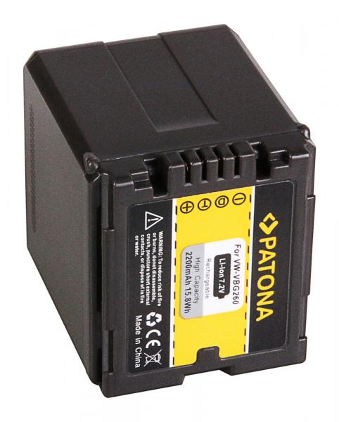 Acumulator Patona pentru Panasonic VW-VBG260 HDC HDCDX1 HDC-DX1 HDCDX1EGS HDC-DX1EG-S 2