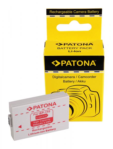 Acumulator Patona pentru Canon BP-110 Legria HF 206 HF 28 HF R26 0
