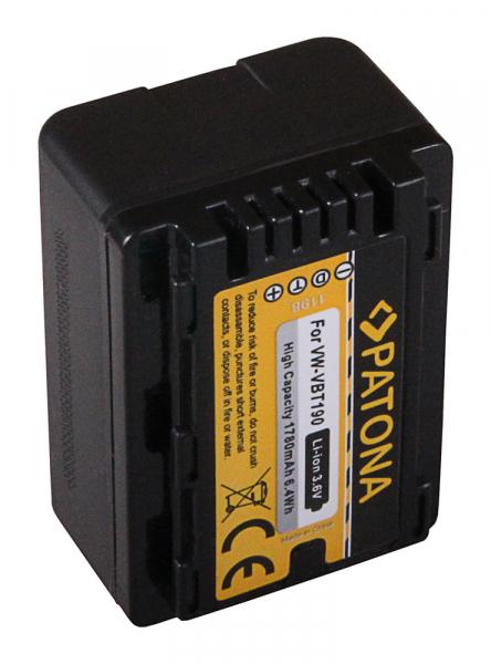 Acumulator Patona pentru Panasonic VW-VBT190 HC V110 V120 V160 V210 V250EB V270 V380 2