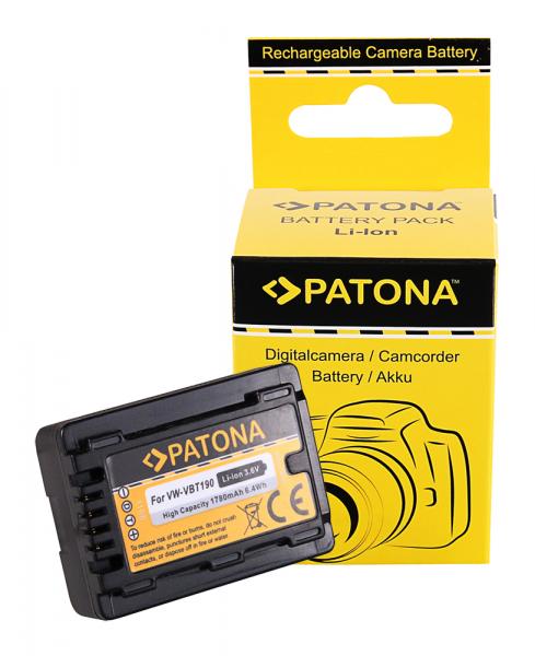 Acumulator Patona pentru Panasonic VW-VBT190 HC V110 V120 V160 V210 V250EB V270 V380 0