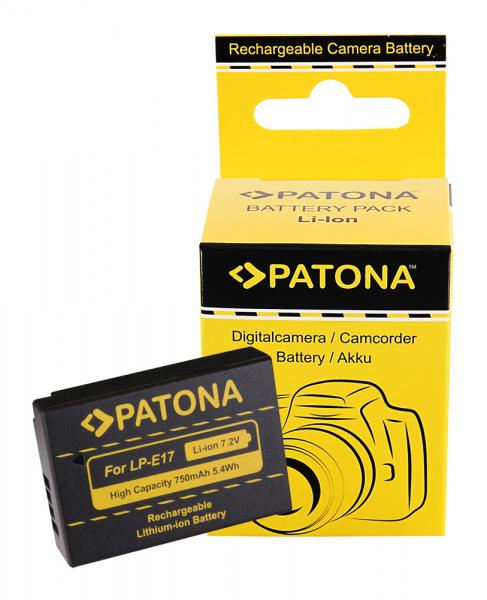 Acumulator Patona pentru Canon LP-E17 EOS 750D 760D 8000D Kiss X8i M3 Rebel Rebel T6i 0