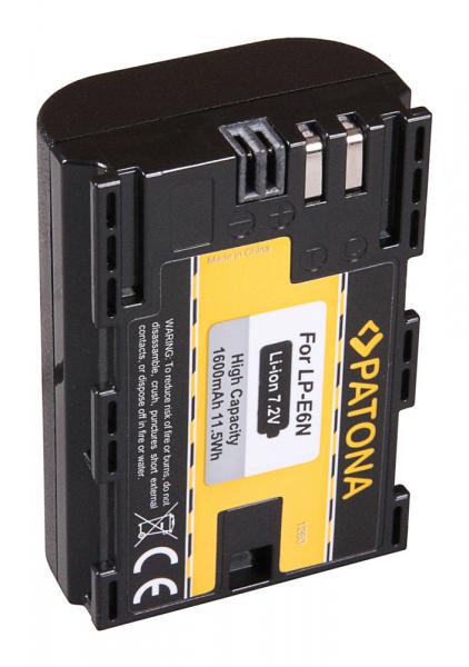 Acumulator Patona pentru Canon LP-E6N EOS 5D 5D Mark II 5D Mark III 5DS 5DS R 60D 60Da 2