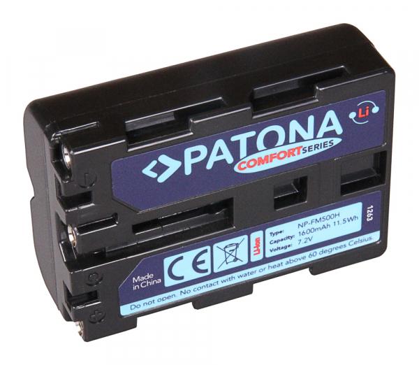 Acumulator Patona Confort pentru Sony NP-FM500H Alpha 57 65 77 99 DSLRA100 DSLR-A100 DSLRA100H 0