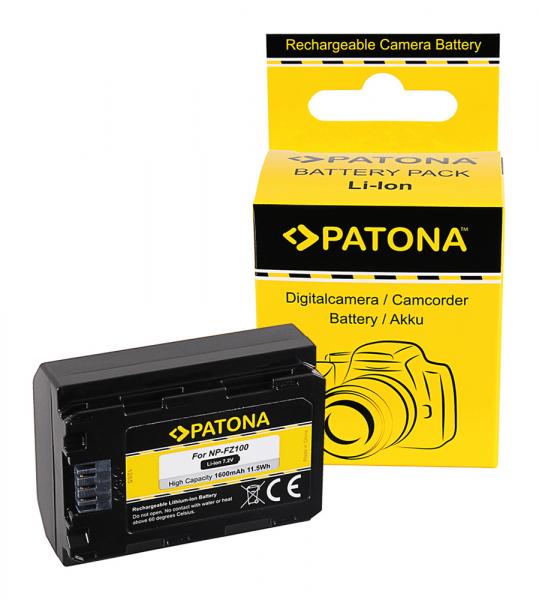 Acumulator Patona pentru Sony NP-FZ100 A7 III A7M3 Alpha 7 III A7 R III A7RM3 Alpha 7 R III A9 Alpha 9 FZ100 0