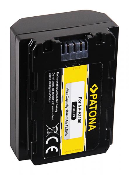 Acumulator Patona pentru Sony NP-FZ100 A7 III A7M3 Alpha 7 III A7 R III A7RM3 Alpha 7 R III A9 Alpha 9 FZ100 1