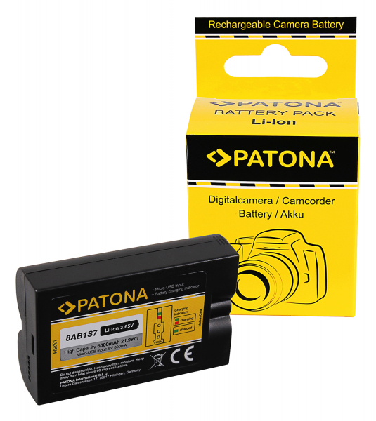 Acumulator Patona 8AB1S7 pentru Sonorizator Video Doorbell 2 și Ring Spotlight Cam Solar 0