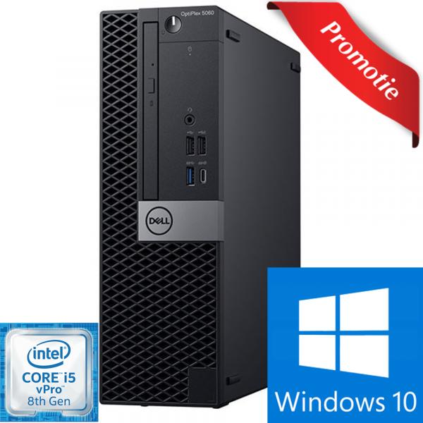 Sistem Desktop PC DELL OptiPlex 5060 SFF, Intel Core i5-8500 pana la 4.1GHz, 8GB, SSD 256GB, Intel® UHD Graphics 630, Windows 10 Pro 0