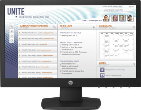 "Monitor LED HP 18.5"", 1366 x 768, VGA, DVI, Negru, V197 0"