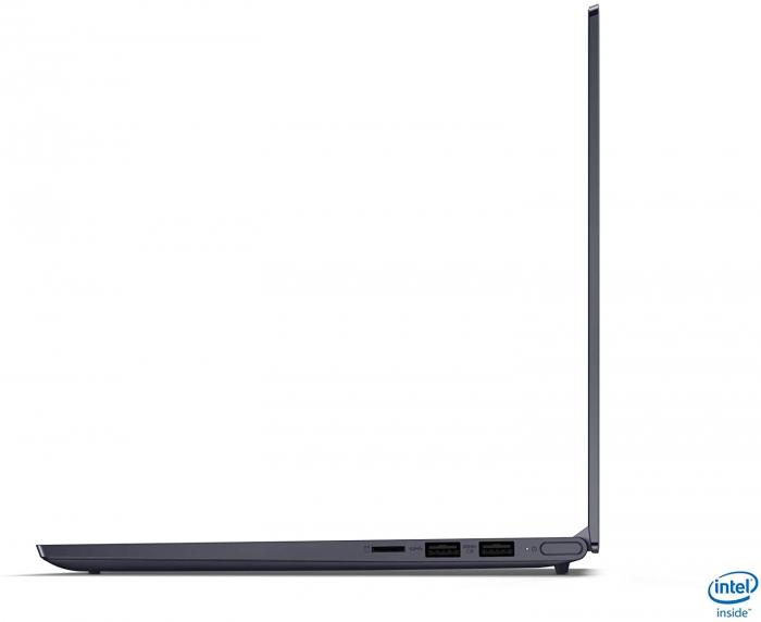 Ultrabook Lenovo 14'' Yoga Slim 7 14IIL05, UHD, Procesor Intel® Core™ i7-1065G7 (8M Cache, up to 3.90 GHz), 16GB DDR4X, 512GB SSD, Intel Iris Plus, Win 10 Home 2