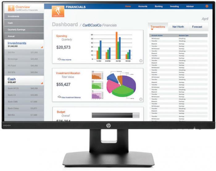 "Monitor IPS LED HP 23.8"", Full HD, VGA, HDMI, Negru, VH240a 0"
