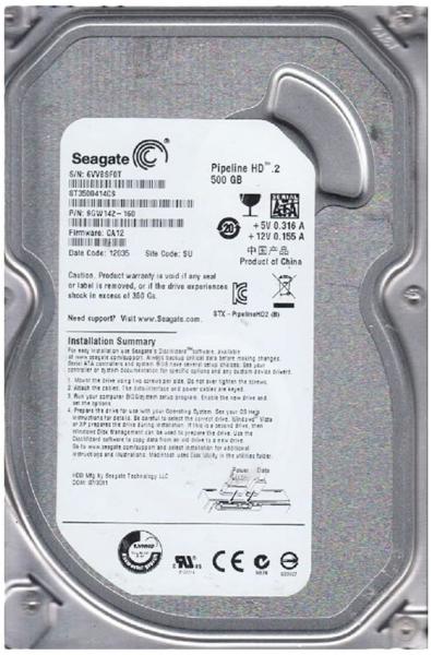 HDD SEAGATE 500GB 16MB Cache 3.5 INCH 0