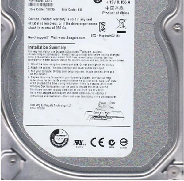 HDD SEAGATE 500GB 16MB Cache 3.5 INCH 2
