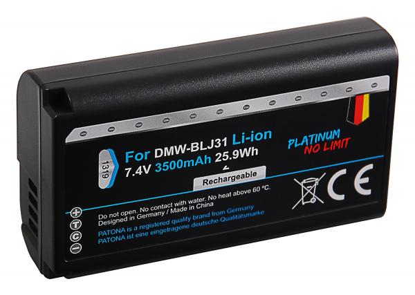 Acumulator Patona Platinum pentru Panasonic DMW-BLJ31E Lumix DC-S1 DC-S1R DC-S1H 5