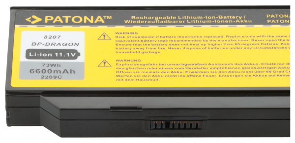 Acumulator Patona pentru Medion P8610 P8611 P8612 Akoya E8410 P7610 P8610 [2]