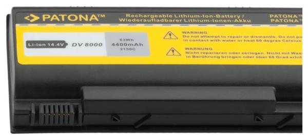 Acumulator Patona pentru HP DV8000 Pavilion dv8000 dv80xxus dv8100 dv8200 2