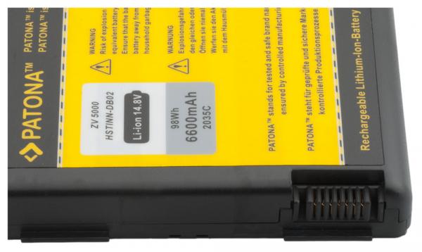 Acumulator Patona pentru HP ZV5000 Pavilion V5103AP V5187EA ZD8200 ZD8201AP 2