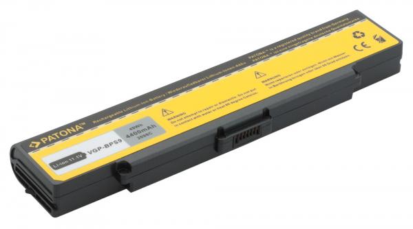 Acumulator Patona pentru Sony BPS9 Negru fără CD PCG 5G1L 5G2L 5G3L 5J1L 1