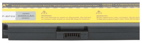Acumulator Patona pentru Sony BPS9 Negru fără CD PCG 5G1L 5G2L 5G3L 5J1L 2