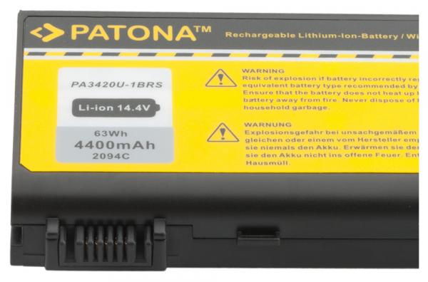 Acumulator Patona pentru TOSHIBA Satellite L100 negru Equium L20197 L20-197 2