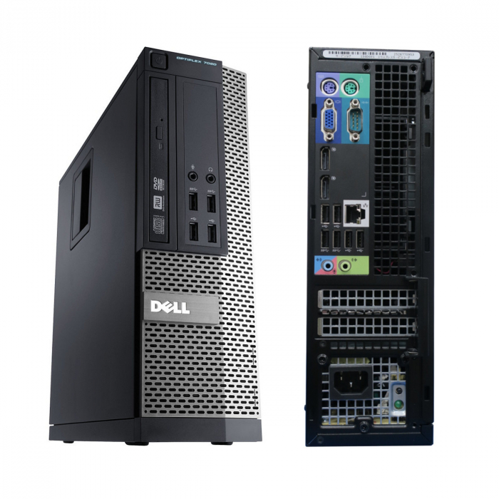 Calculator Refurbished Dell OptiPlex 7020 Mini-Tower Intel Core i5-4590, 4GB DDR3, 500GB HDD, Win 10 Pro [2]