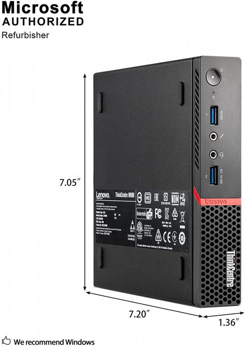 Calculator REFURBISHED Lenovo ThinkCentre M900 Mini PC, Intel Core i5-6500T 2.50GHz, 4GB DDR4, 128 SSD, Win 10 PRO [2]