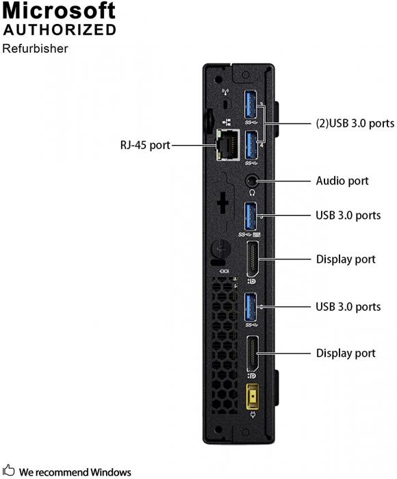 Calculator REFURBISHED Lenovo ThinkCentre M900 Mini PC, Intel Core i5-6500T 2.50GHz, 8GB DDR4, 180 SSD, Win 10 PRO [4]