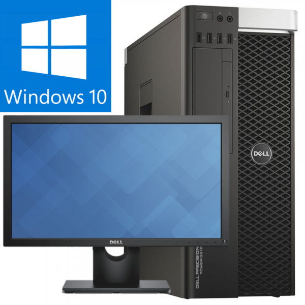 DELL PRECISION T5810 INTEL XEON E5-1620 V3 3.50GHZ / 16GB DDR4 / 240 SSD + 2000GB HDD / QUADRO M4000 8Gb/256 biti / Windows 10 PRO / Monitor Dell P2317H 0