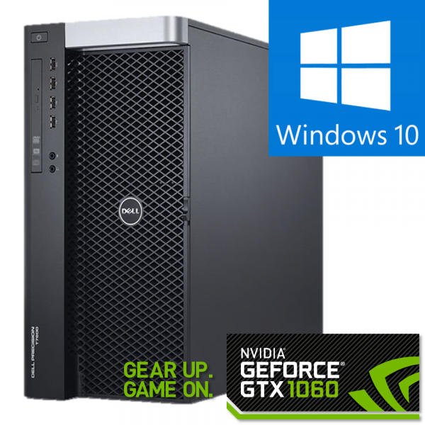 DELL Precision T7600 Workstation, 2 x Intel HEXA Core Xeon E5-2265 2.40 GHz, 32GB DDR3 ECC, 240GB SSD + 1TB HDD, GeForce® GTX 1060 0