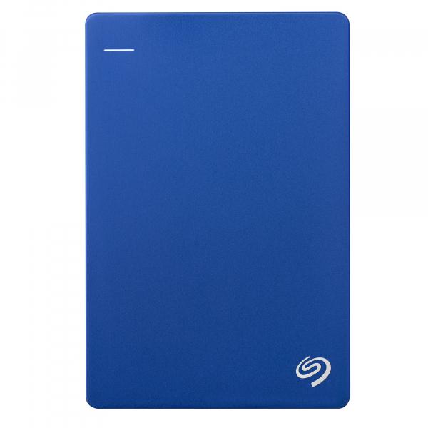 "HDD extern Seagate Backup Plus Slim Portable, metalic, 2TB, 2.5"", USB 3.0,Albastru 0"