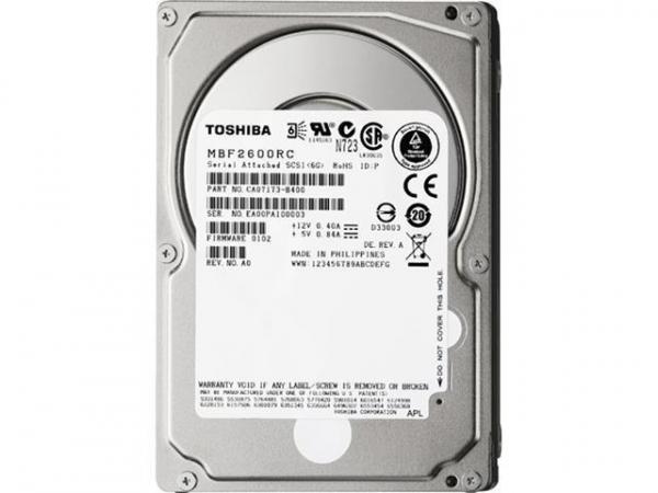 "HDD Server Toshiba MBF2600RC Serial Attached SCSI 2.5"" 10.000 rpm 6Gb/s SAS [0]"