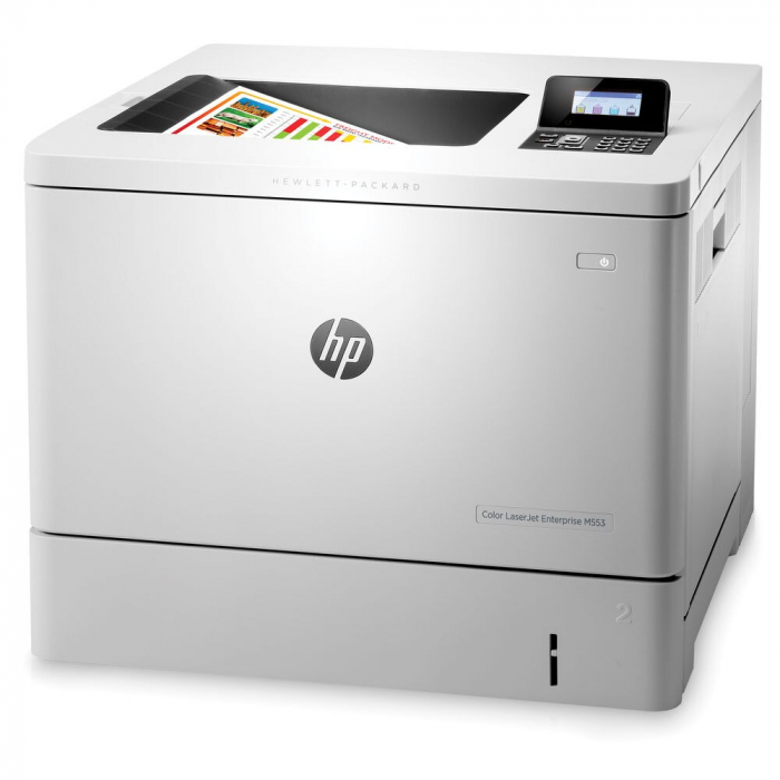 Imprimanta HP Color LaserJet Enterprise M553N, Format A4, Retea 1