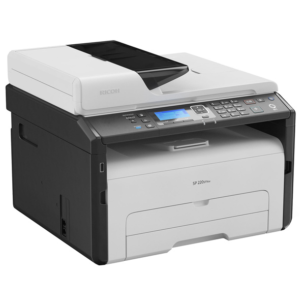 Imprimanta multifunctionala Ricoh SP 220SNW 23PPM A4 Mono Laser MF Print, Scan, Copy Network, WIFI 0